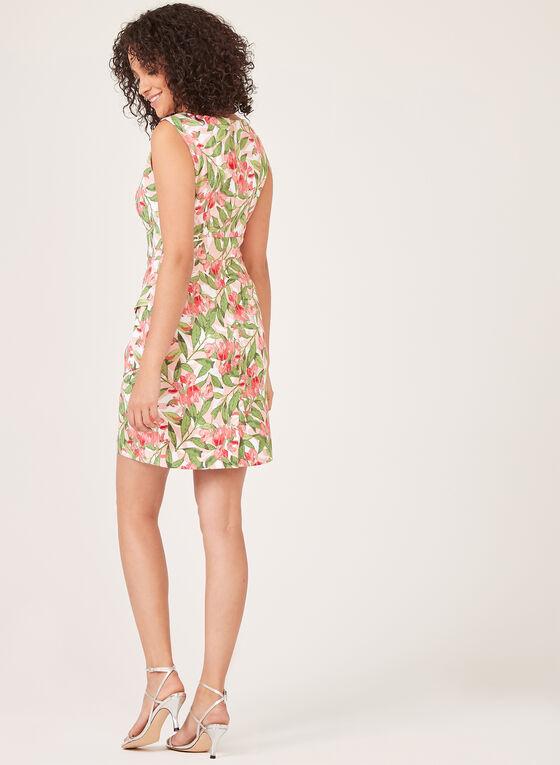 Floral Print Tiered Dress, Orange