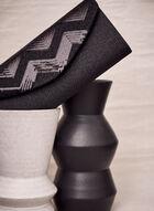 Sequin Envelope Clutch , Black