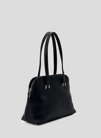 Basic Rounded Satchel, Black, hi-res