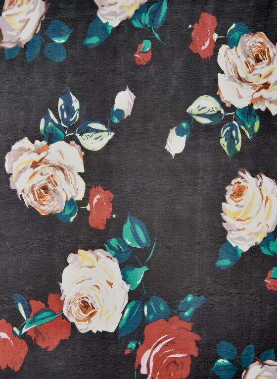 Foulard léger à imprimé floral, Multi