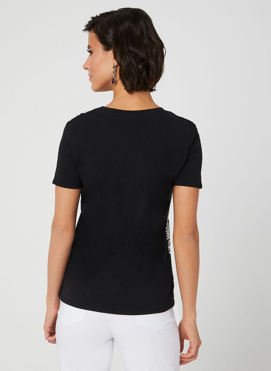 Textured T-Shirt, Black, hi-res