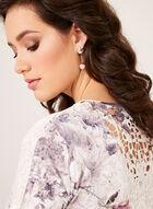 Crystal Embellished Floral Shirt, Orange, hi-res