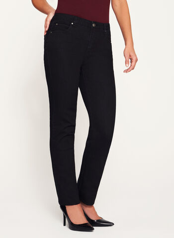Simon Chang - Signature Fit Embellished Jeans, Black, hi-res