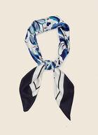 Foulard léger à imprimé floral , Bleu