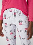 Claudel Lingerie - Pyjama 2 pièces motif chats, Gris, hi-res