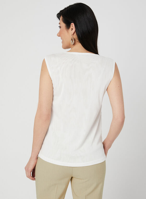 Ness - Haut sans manches à billes et paillettes, Blanc, hi-res