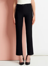 Modern Fit Straight Leg 7/8 Pants, Black, hi-res