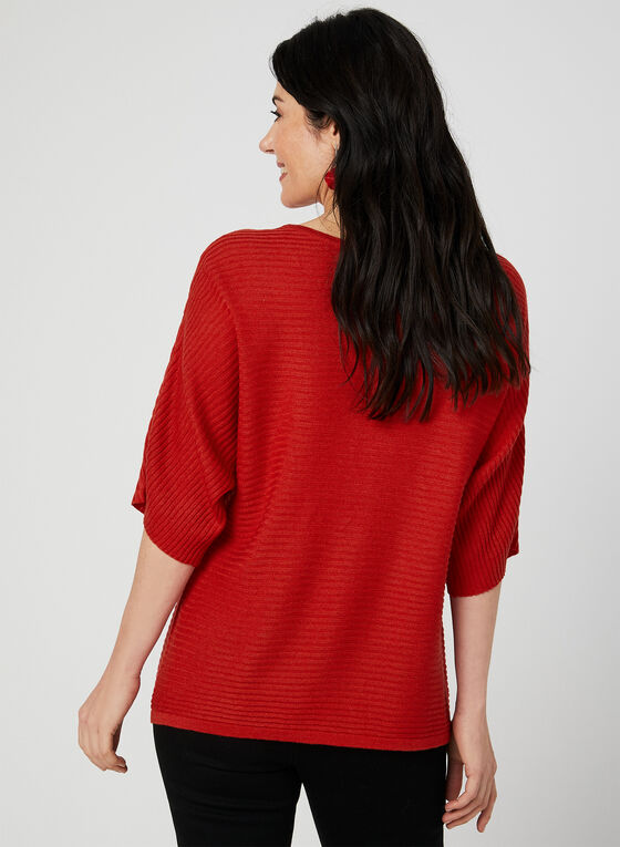 Dolman Sleeve Knit Top, Orange