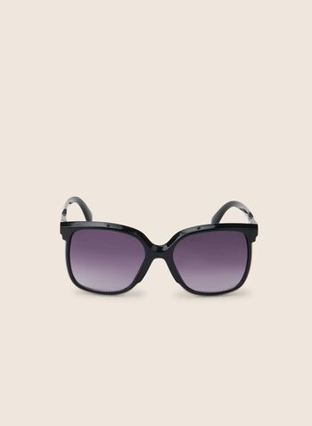 Plastic Frame Sunglasses , Black,  sunglasses, plastic, spring 2020,summer 2020