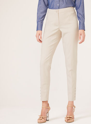 Modern Fit ⅞ Slim Leg Pants, Brown, hi-res