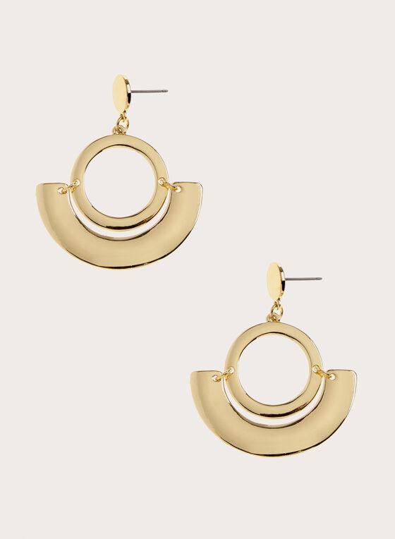 Boucles d'oreilles à pendants ajourés circulaires, Or, hi-res