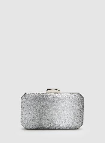 Glitter Box Clutch, Silver, hi-res,  Spring 2019, evening