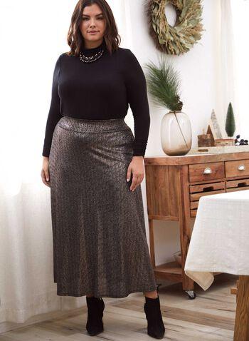 Glitter Pull-On Maxi Skirt, Black,  fall 2021, skirt, maxi, maxi skirt, pull-on, pull-on skirt, elastic waist, pockets, glitter, stretch, loose, flowy, flowing