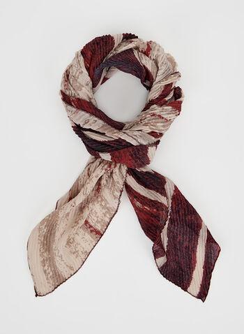 Foulard motif abstrait et ombré, Rouge, hi-res
