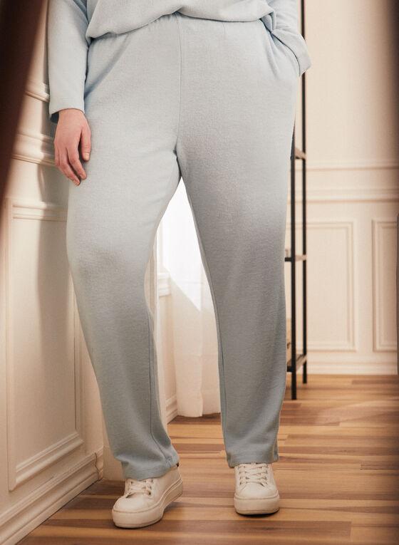 Pantalon pull-on en tricot, Bleu