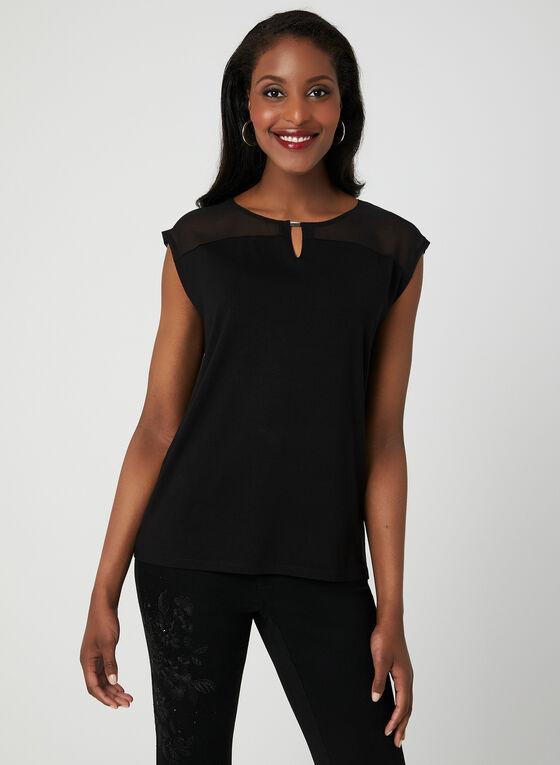 Drop Shoulder T-Shirt, Black