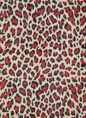 Leopard Print Scarf, Red,  fall winter 2019, scarf, animal print