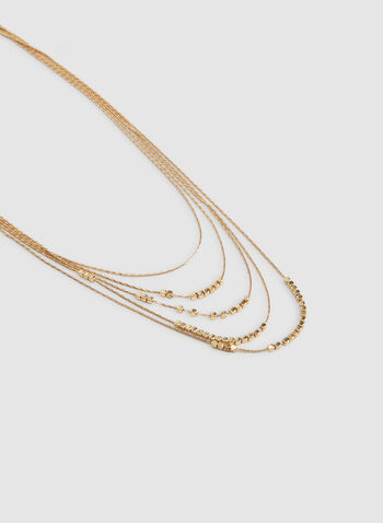 Multistrand Metal Necklace, Gold, hi-res,  gold necklace,