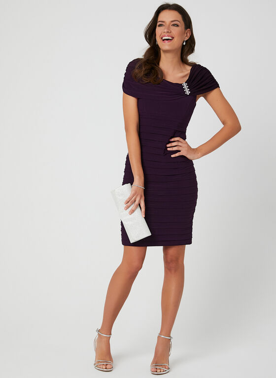 Empire Waist Jersey Dress, Purple, hi-res