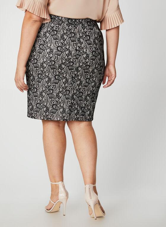 Lace Pencil Skirt, Black