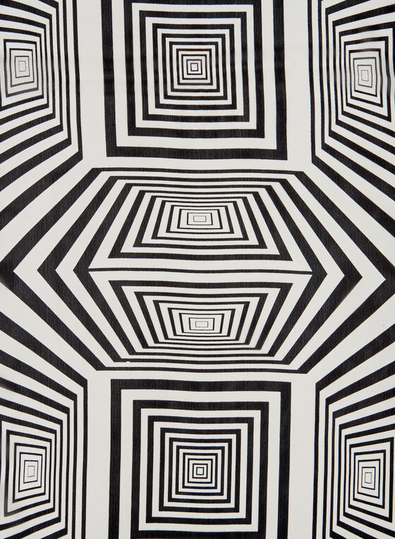 Foulard oblong abstrait, Noir, hi-res