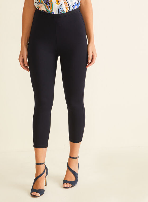 Pull-On Capri Leggings, Blue