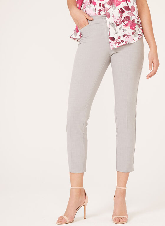 City Fit ⅞ Straight Leg Pants, Grey, hi-res