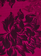 Foulard léger fleuri à ourlet frangé, Rose