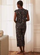 Floral Print Pyjama Set, Black