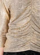 Haut métallisé avec manches dolman ¾, Jaune, hi-res
