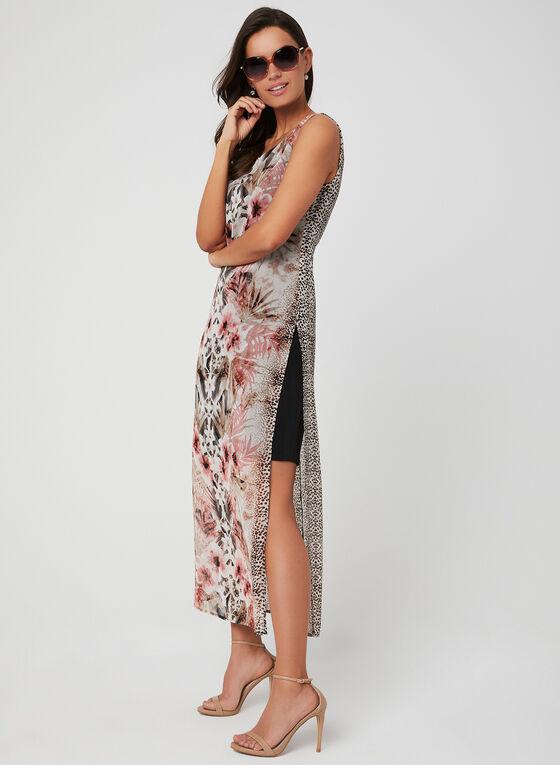 Floral & Animal Print Dress, Brown, hi-res