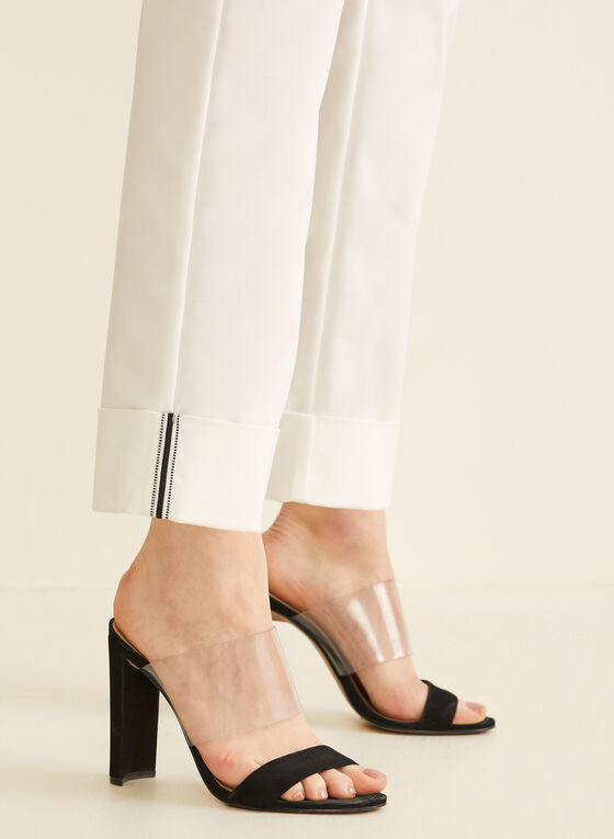 City Fit Straight Leg Pants , Off White