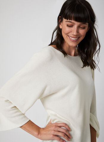 Made in Italy - Batwing Sleeve Sweater, Off White,  fall winter 2019, dolman sleeve, knit, sweater,
