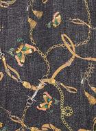 Foulard léger motif chaînes, Noir
