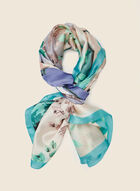 Watercolour Print Lightweight Scarf, Blue