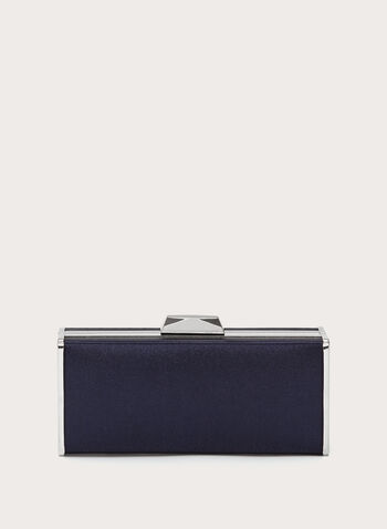 Metallic Trimmed Box Clutch, , hi-res