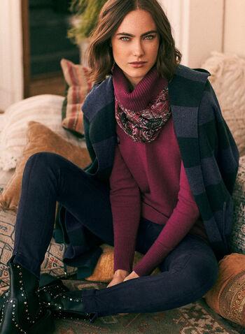 Legging en faux suède à zips, Bleu,  automne hiver 2020, legging, pull-on, à enfiler, taille élastique, suède, zips, glissières