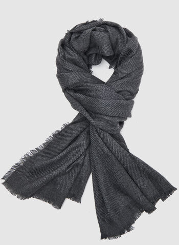 Super Soft Textured Wrap, Black, hi-res