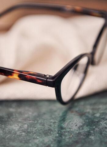 Lunette de lecture écaille de tortue, Noir,  lunettes, lecture, écailles tortue, plastique, oeil de chat, printemps été 2021