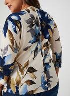 Haut motif floral à manches dolman, Blanc, hi-res