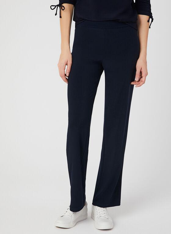 Pantalon coupe moderne à jambe large, Bleu, hi-res