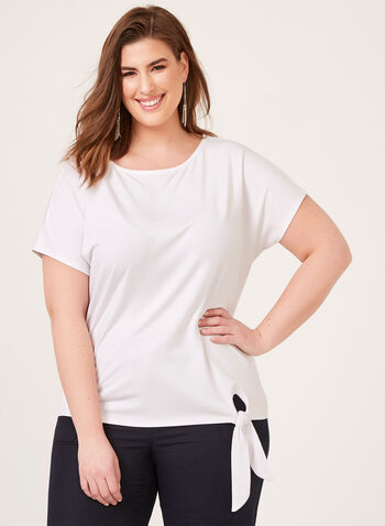 Boat Neck T-Shirt, White, hi-res