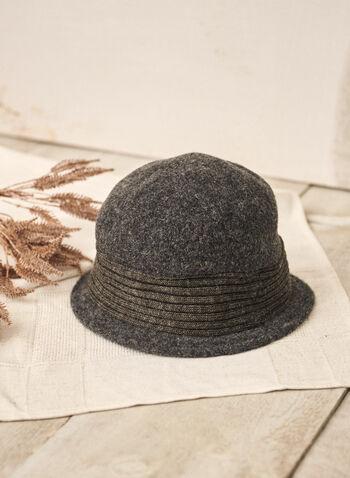 Wool Cloche Hat, Grey,  accessories, hat, cloche hat, wool, knit insert, fall winter 2021