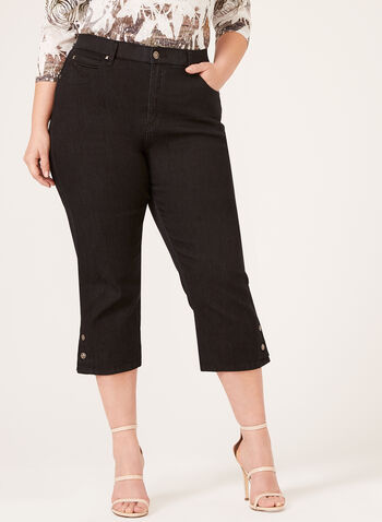 Simon Chang - Signature Fit Denim Capris, Black, hi-res
