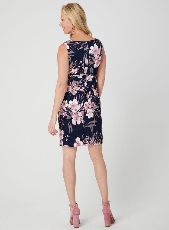 Floral Print Dress, Blue, hi-res