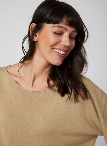 Made in Italy - Batwing Sleeve Sweater, Brown,  fall winter 2019, dolman sleeve, knit, sweater,