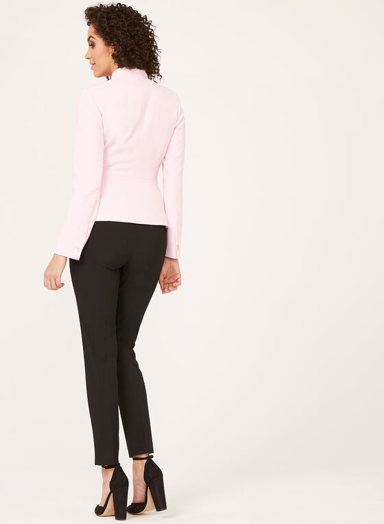 Crepe Cropped Jacket, Pink, hi-res