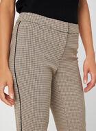 Pantalon à imprimé pied-de-poule, Brun, hi-res