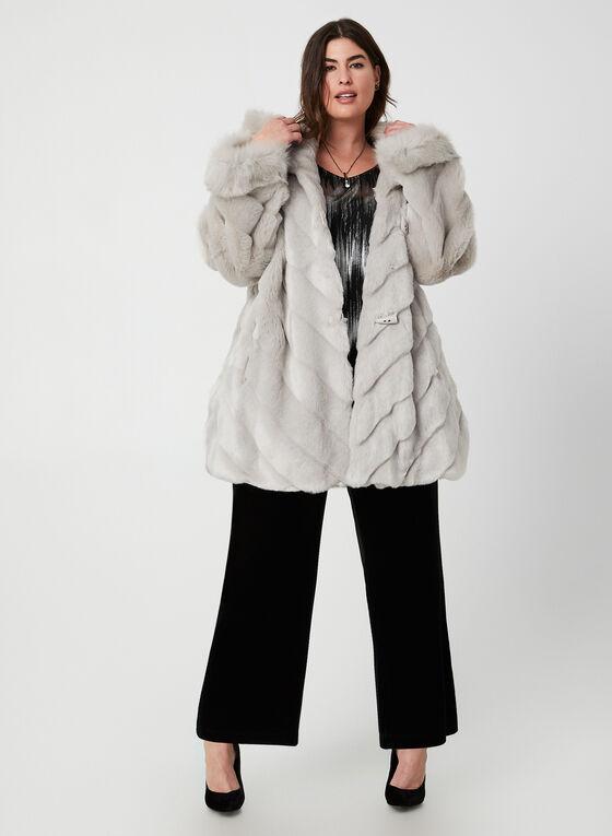 Nuage - Faux Fur Coat, Silver
