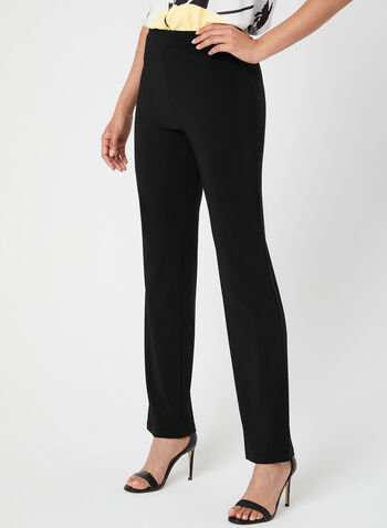 Modern Fit Straight Leg Pants, Black, hi-res,  Canada, Modern Fit, pants, straight leg, pull-on, elastic waist, spring 2019